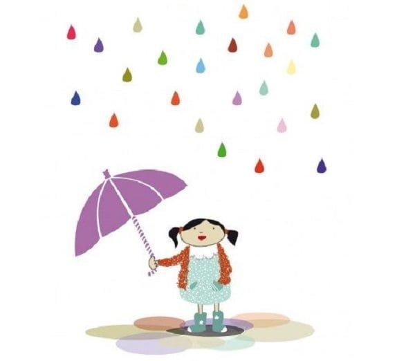 Una sonrisa bajo la lluvia